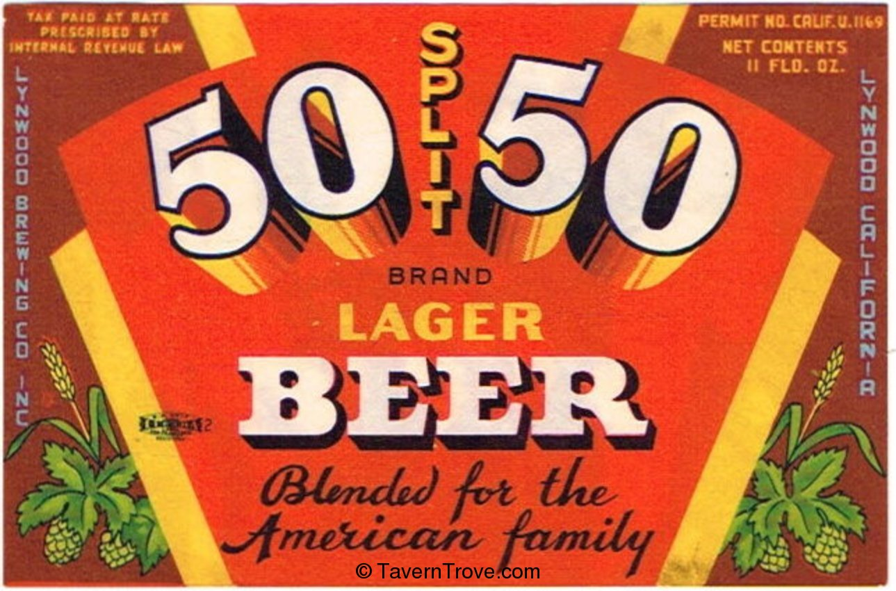 50 50 Split Lager Beer