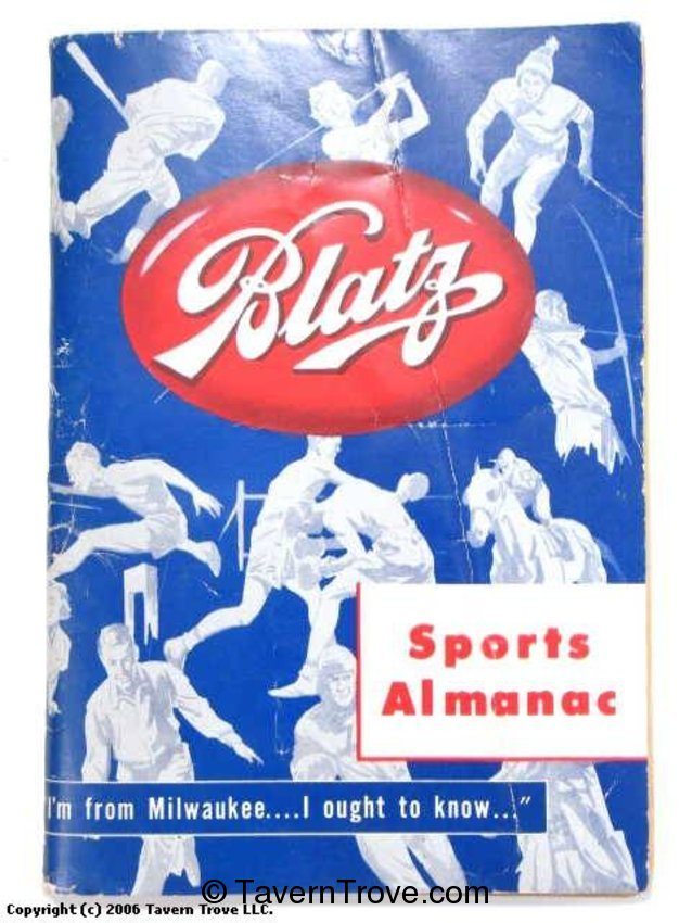 Blatz Beer Sports Almanac