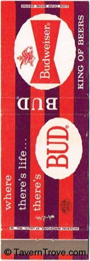 Budweiser Beer (Purple/Red)