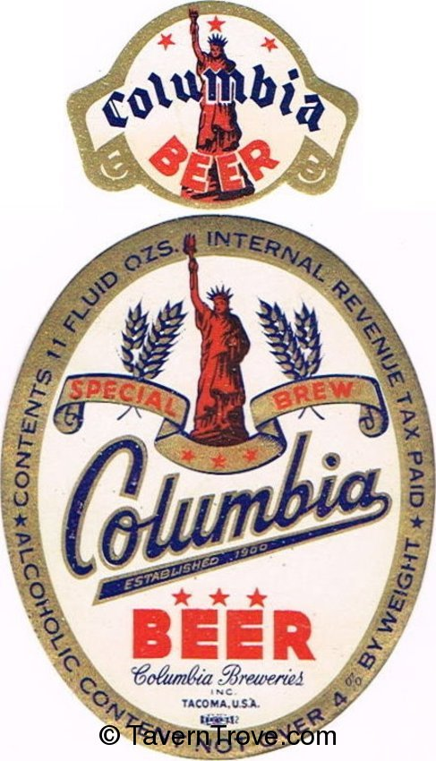 Columbia Special Brew Beer