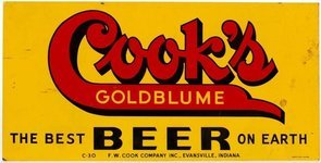 Cook's Goldblume Beer tin