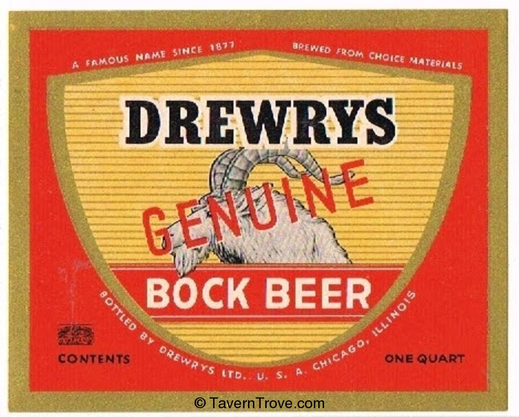 Drewrys Genuine Bock Beer