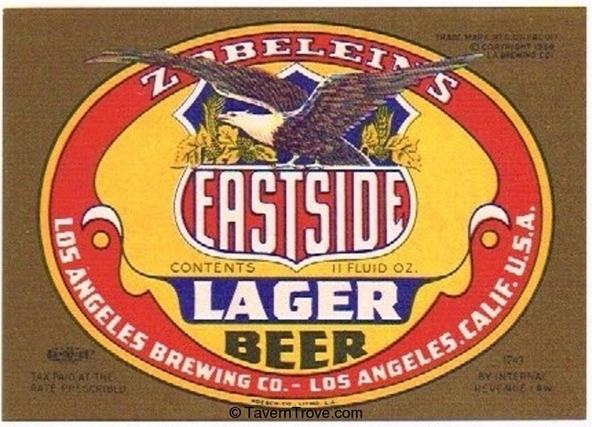 Zoblein's Eastside Lager Beer