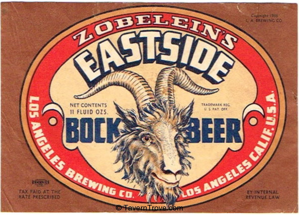 Eastside Bock Beer
