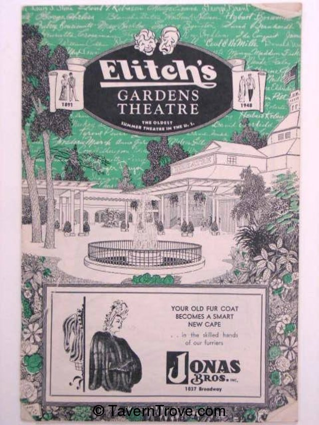 Elitch's Gardens 1948 Theatre Program
