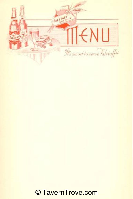 Falstaff Menu Sheet