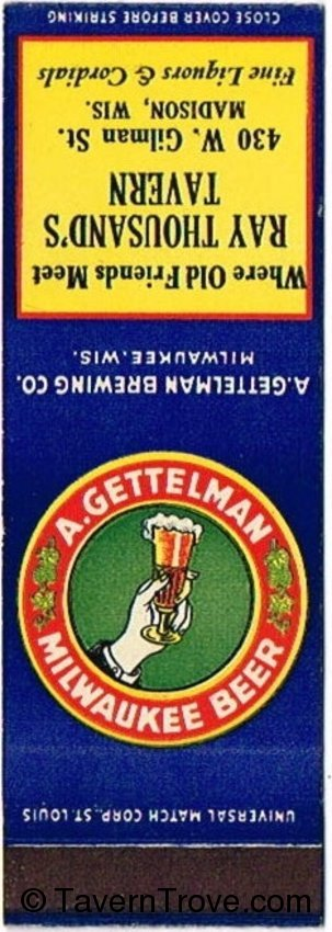 Gettelman Milwaukee Beer