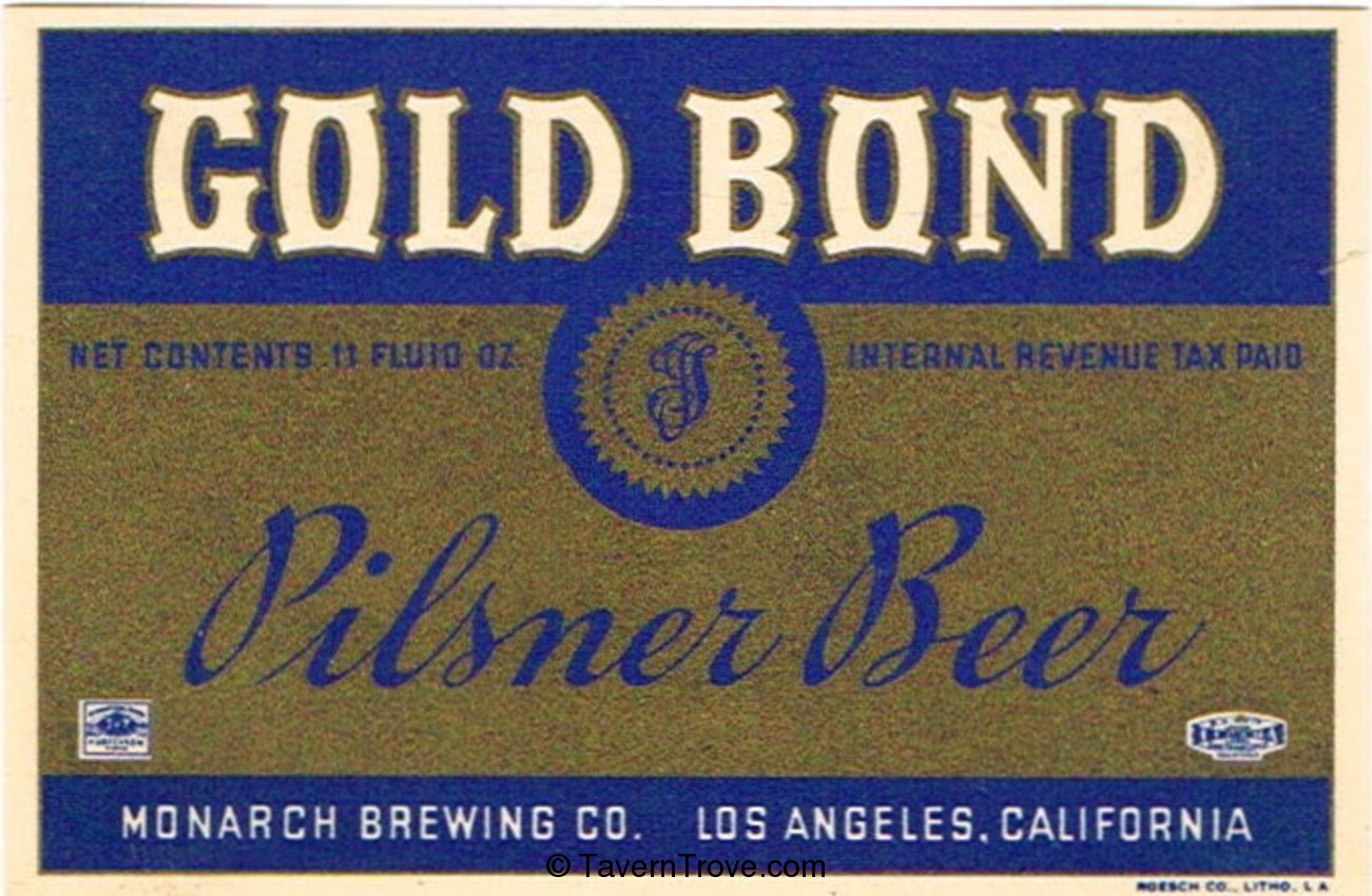 Gold Bond Pilsner Beer