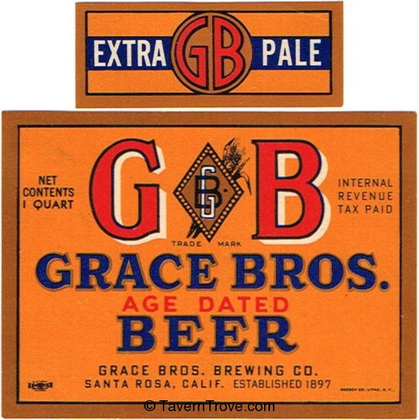 Grace Bros. GB Age Dated Beer