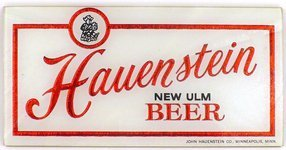 Hauenstein Beer reverse painted glass