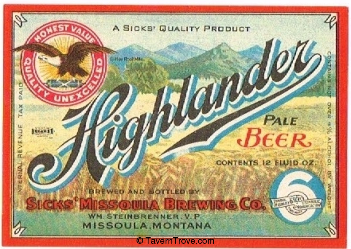 Highlander Pale  Beer
