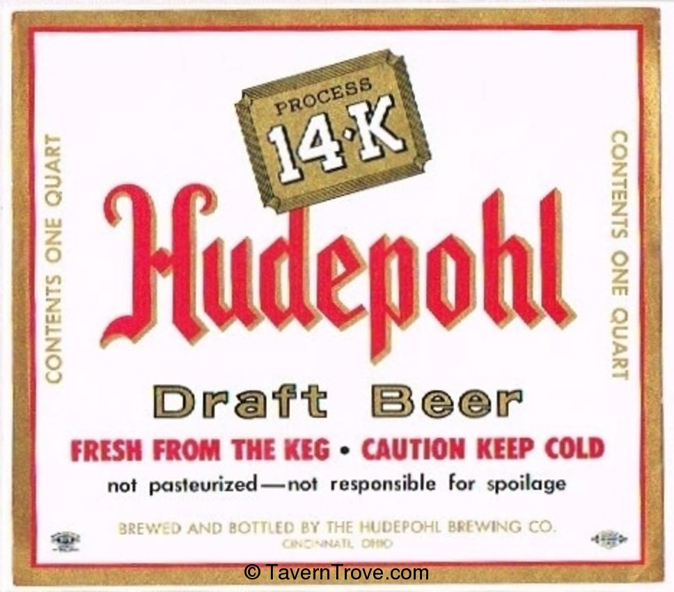 Hudepohl Draft Beer