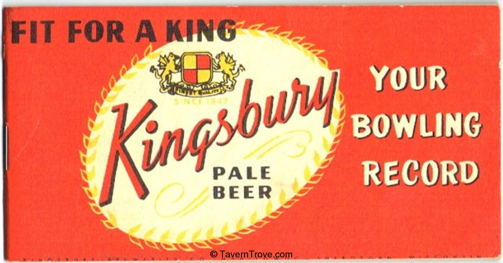 Kingsbury Beer Bowling Record Book