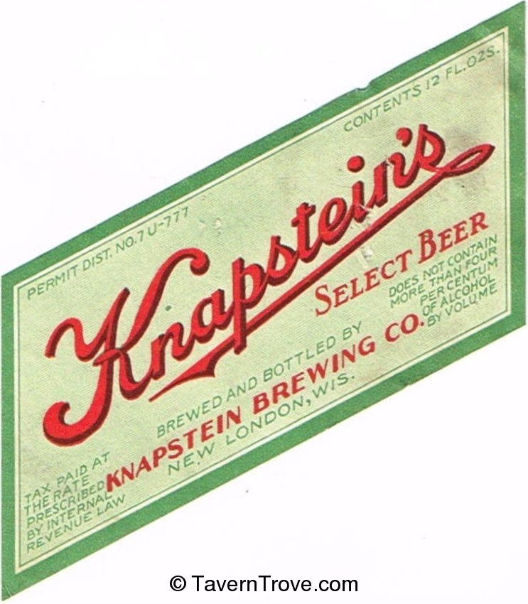 Knapstein's Select Beer