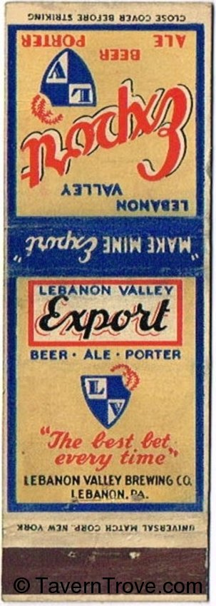 Lebanon Valley Export Beer