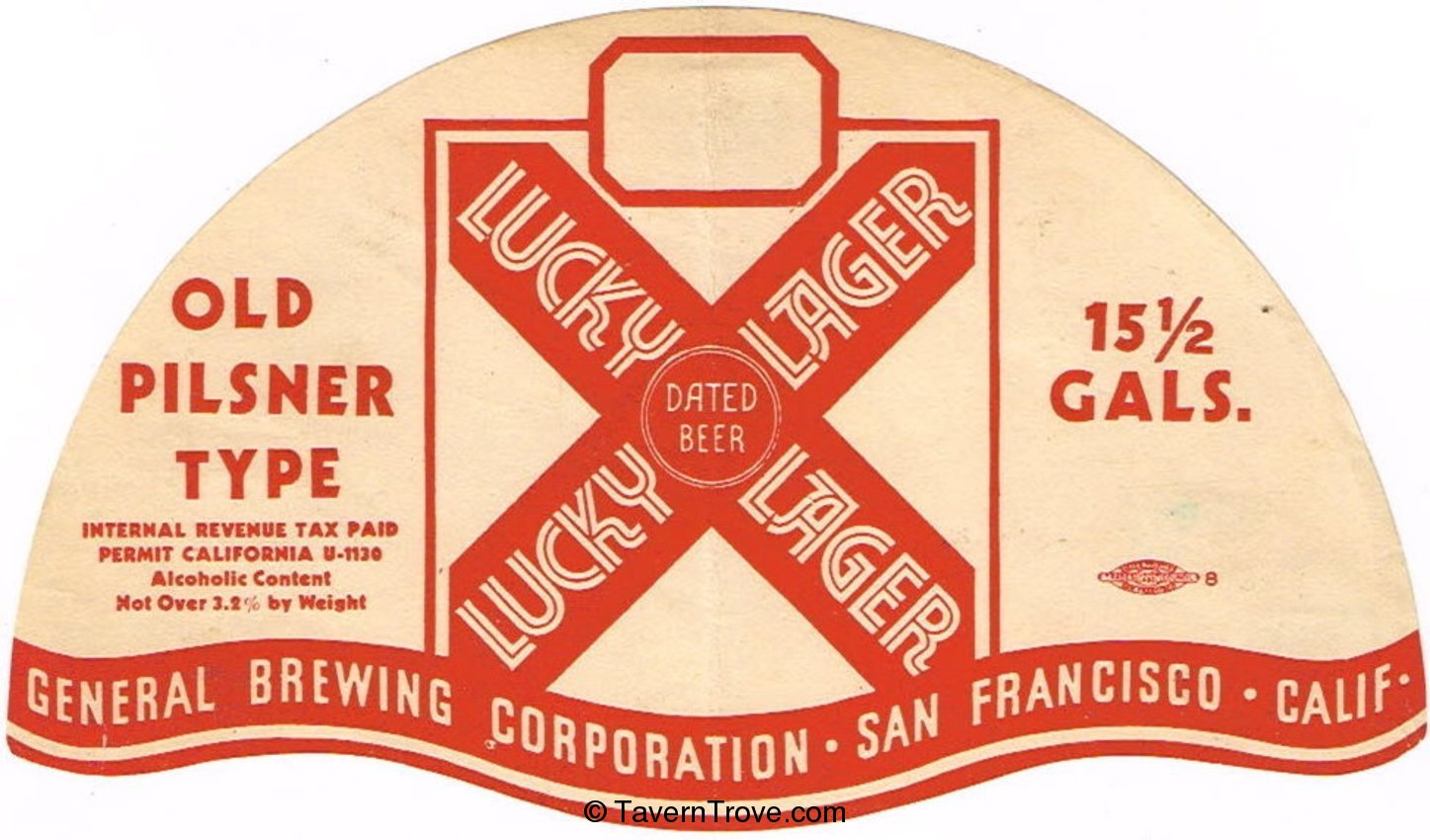Lucky Lager Old Pilsner Type Beer