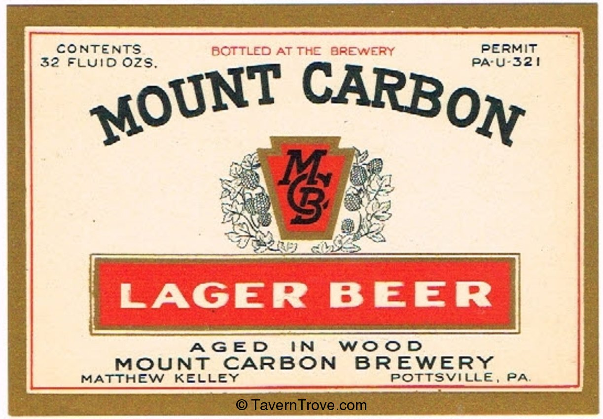 Mount Carbon Lager Beer