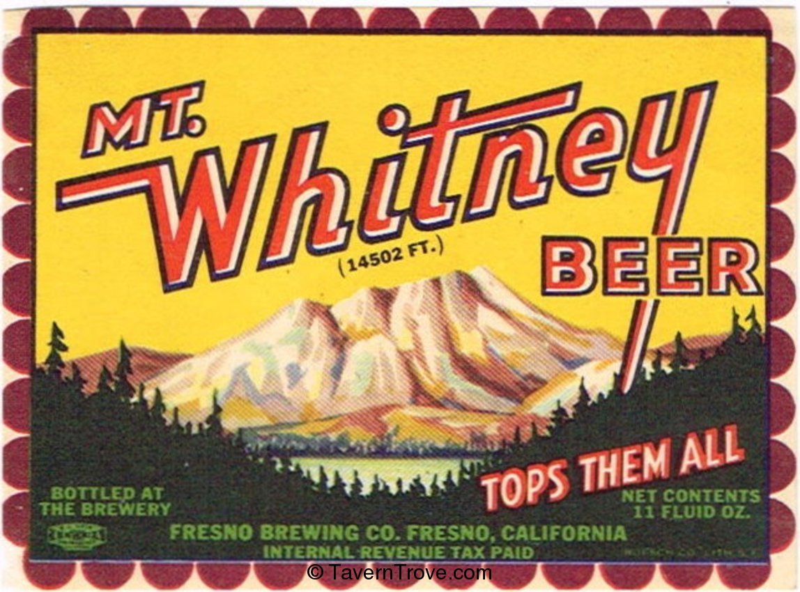 Mt. Whitney Beer