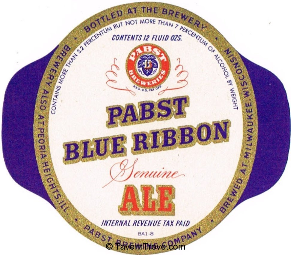 Pabst Blue Ribbon Genuine Ale