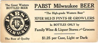 Pabst Milwaukee Beer