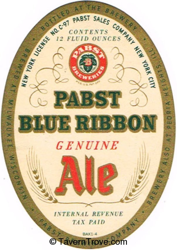Pabst Blue Ribbon Genuine Ale (NYC)