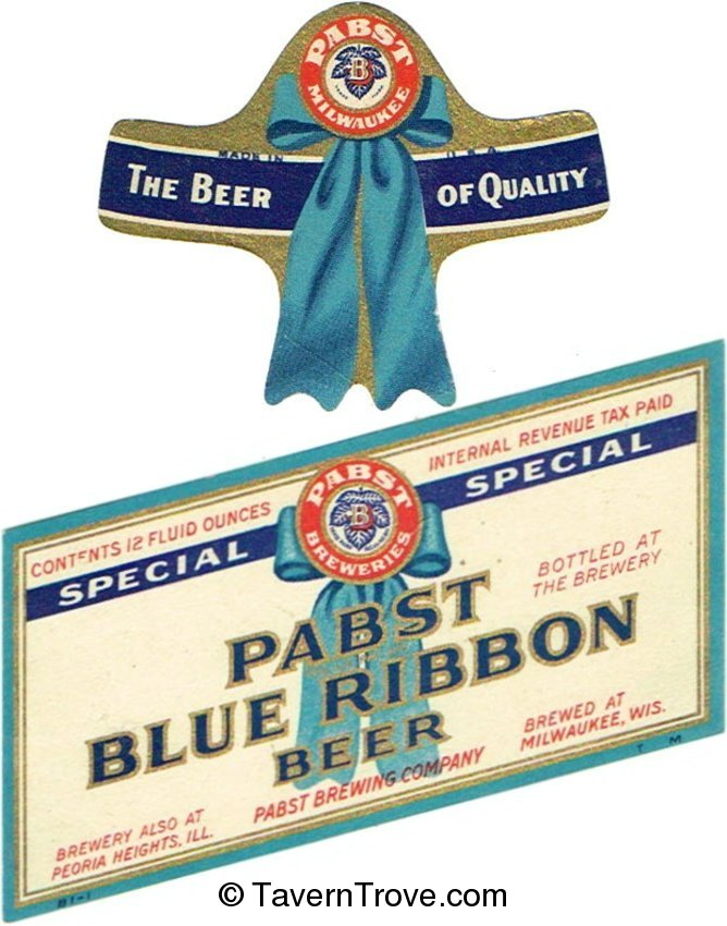 Pabst Blue Ribbon Special Beer