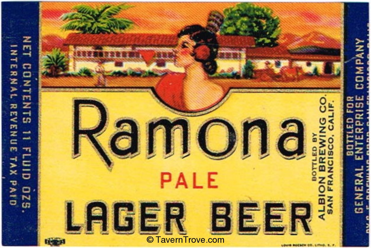 Ramona Pale Lager Beer