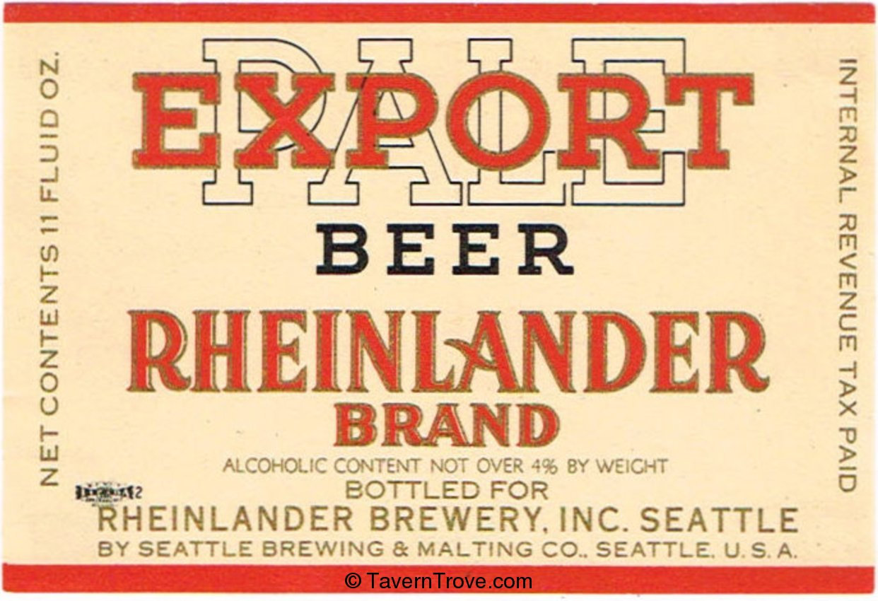 Rheinlander Export Beer