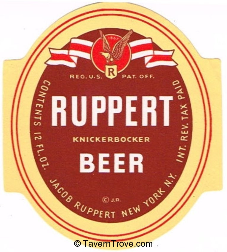 Ruppert Knickerbocker Beer