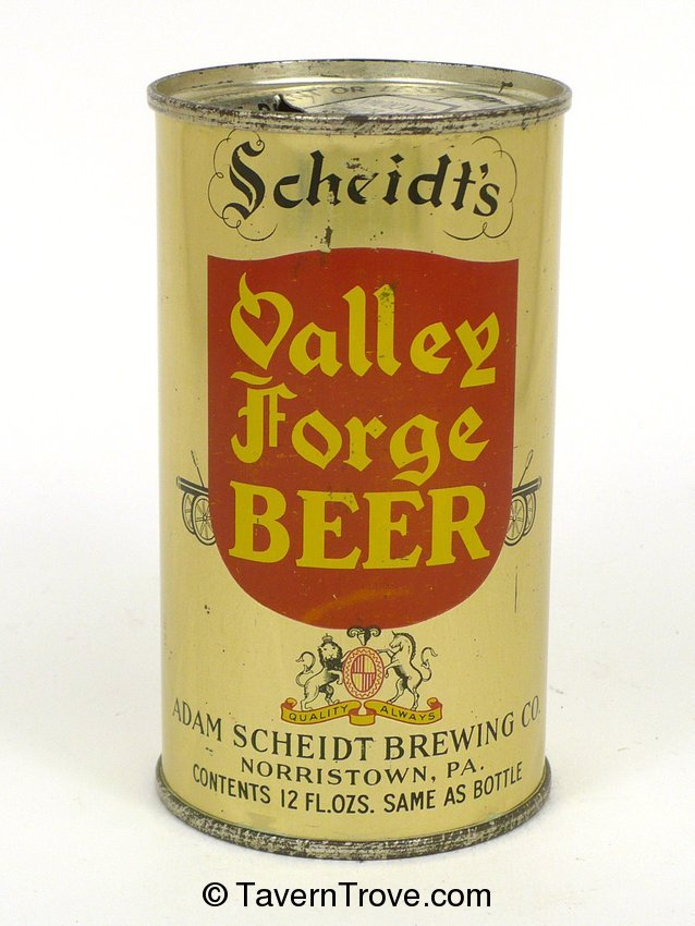 Scheidt's Valley Forge Beer