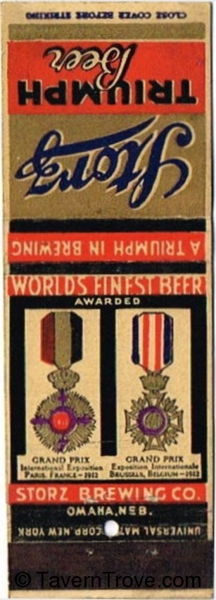 Storz Triumph Beer (brown reverse)