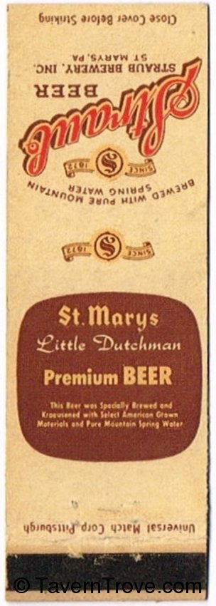 Straub/St. Marys Little Dutchman Beer