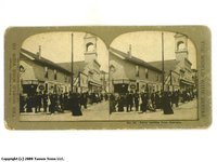 Street Scene Stereoview (Wunder Beer)