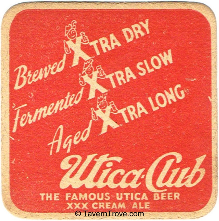 Utica Club Beer/XXX Cream Ale