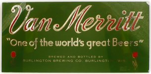 Van Merritt Beer reverse painted glass