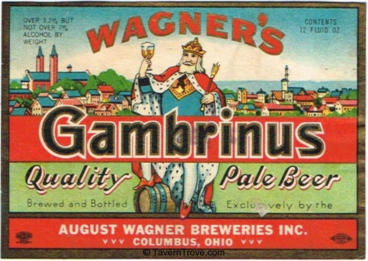 Wagner's Gambrinus Quality Pale Beer
